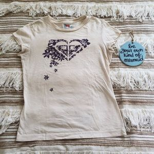 Vintage Roxy Graphic Logo Tee Size Small